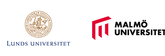 The logos of SWEbeams, Lund University, Malmö University and Chalmers University of Technology