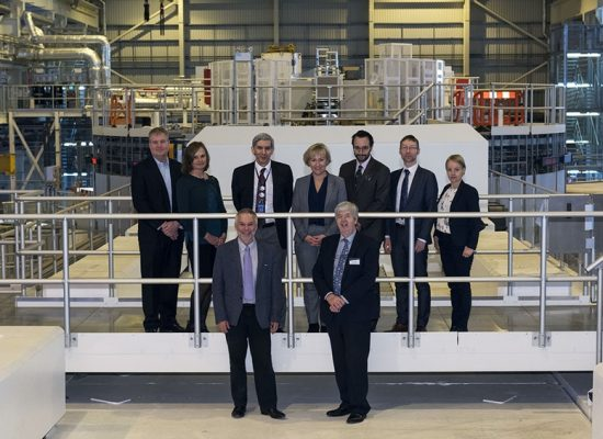 Swedish delegation including Mrs Helene Hellmark Knutsson, Minister for Higher Education and Research in Sweden visit STFC's ISIS neutron and muon source.