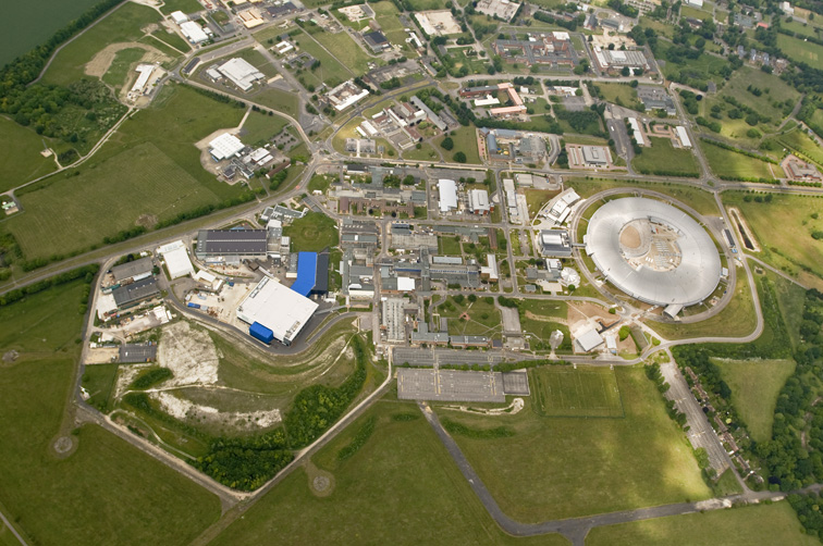 Aerial view STFC's Rutherford Appleton Laboratory, 12th June 2010